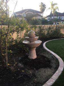 Fountain in planter