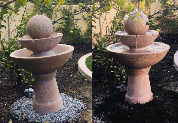 Services Re-level Fountain Split image